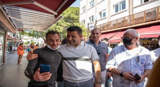 Başkan Günel,Turistik Çarşılarda İncelemede Bulundu