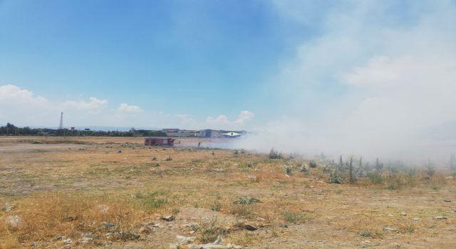 Otluk Alanda Çıkan Yangın Panik Yarattı
