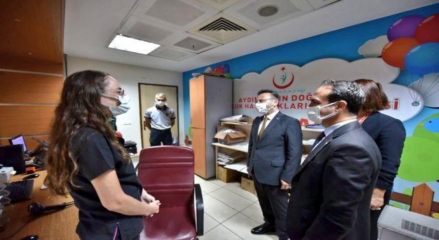 Aydın Valisi Aksoy Bayramda Hastane Ziyareti Yaptı