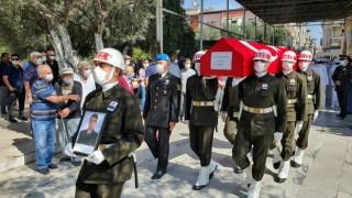 Nazillili Teğmen Eskcicioğlu, askeri törenle toprağa verildi